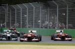 Alonso, Massa, Rosberg 2013 Australian Gp