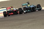 Formula 1 2013 Bahrain Rosberg and Perez
