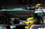 Hamilton and Rosberg Formula 1 2013 China GP