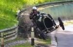 vintage Bugatti crashing