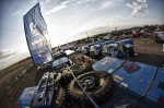 SIlk Way Rally 2013 - Overview of the KAMAZ master camp after the 3rd stage of Silk Way Rally in Astrakhan, Russia on July 9th, 2013 // Denis Klero/Red Bull Content Pool // P-20130716-00083 // Usage for editorial use only // Please go to www.redbullcontentpool.com for further information. //