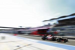 Romain Grosjean Hungarian GP 2013 © Pirelli Tyre S.p.A.