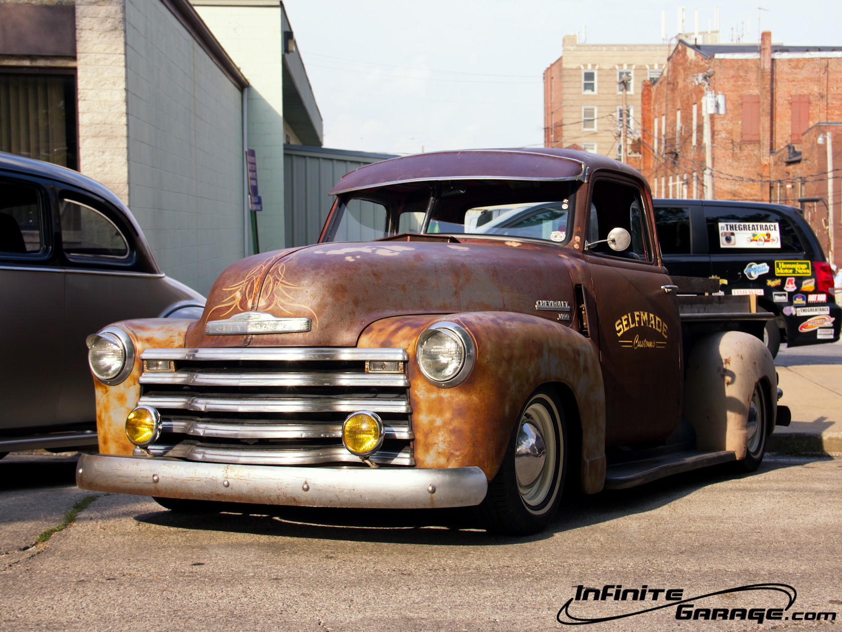 Chevy rat rod truck wallpaper normal size