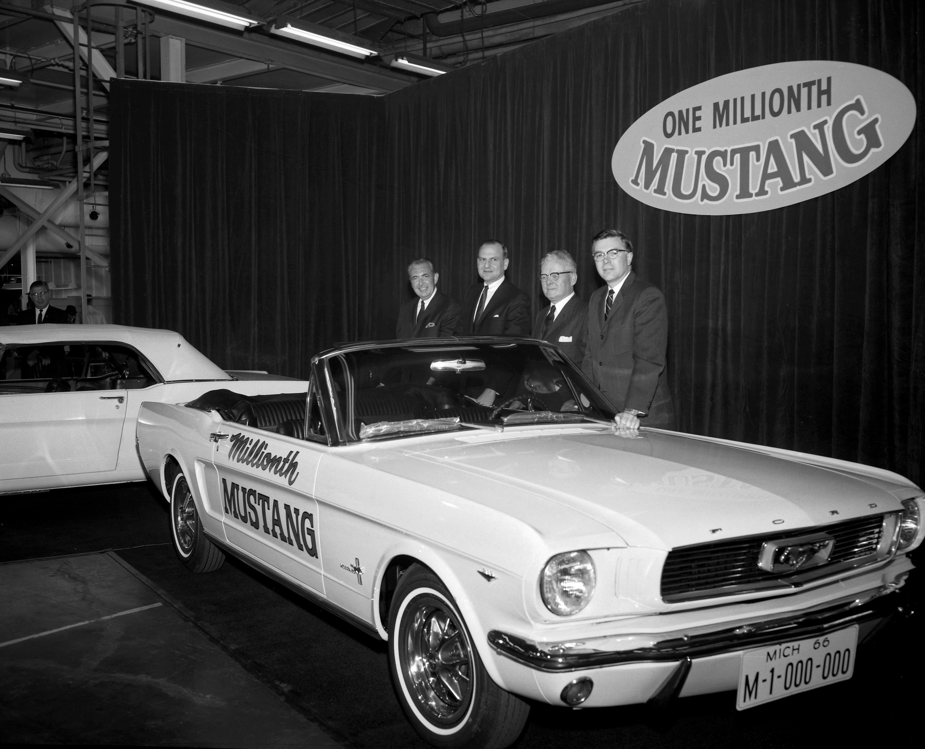 CAPT. STANLEY TUCKER AND HIS FORD MUSTANGS, NUMBERS 1 AND ...
