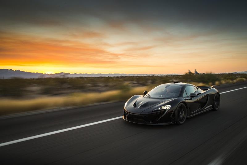 McLaren-P1-sunset