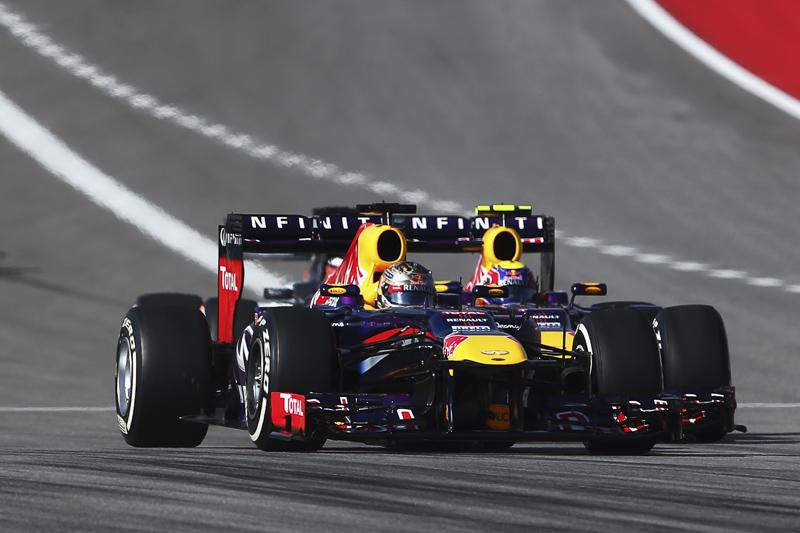 Sebastian Vettel and Mark Webber - Action