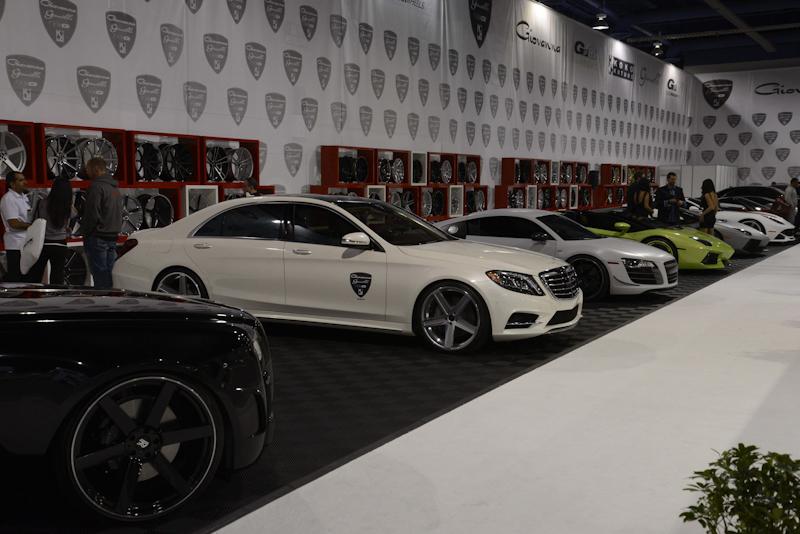 luxury cars at sema