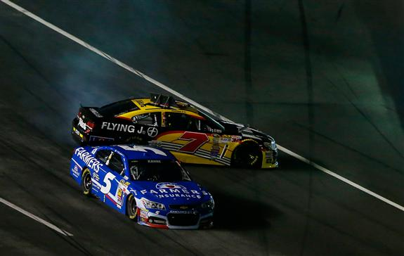 Michael Annett in 7 car spins into Kahne