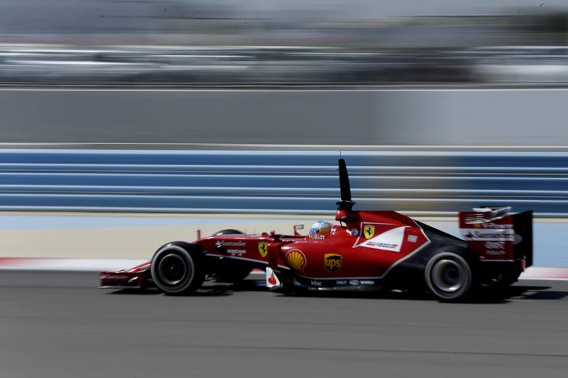 A Ferrari F1 car on track