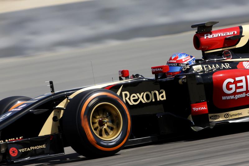 Romain Grosjean (Lotus) on track with P Zero Orange hard tyres